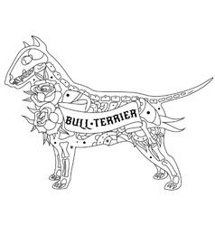 Outline Bull Terrier vector image