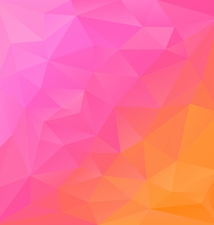 Reflection pink orange polygonal triangular vector