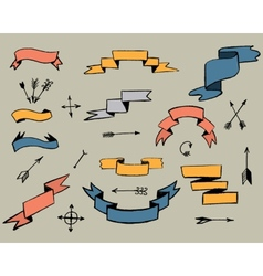 Ribbons and arrows vector