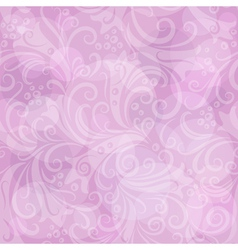 Seamless gentle pink floral vector