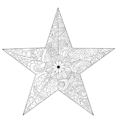 Star coloring for adults vector image vector image