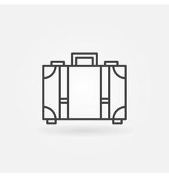 Suitcase icon or logo vector image vector image
