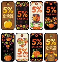 thanksgiving tags vector image vector image