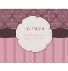 invitation back vector image