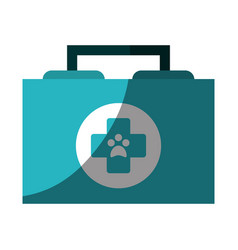 Veterinarian first aid kit icon image vector