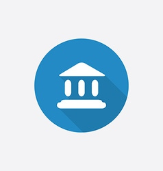 Court law flat blue simple icon with long shadow vector