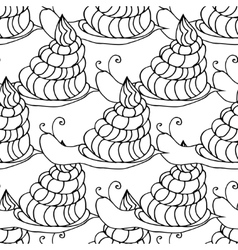Snail background vector