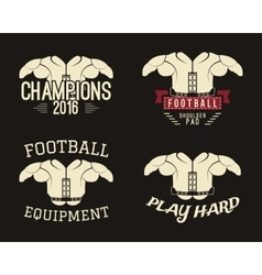 Collection of shoulder pads labels stamps logos vector