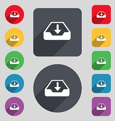 Restore icon sign a set of 12 colored buttons and vector