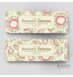 Beautiful banner template with floral vector