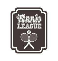 Tennis league design vector