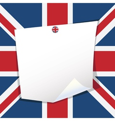 Uk note paper vector