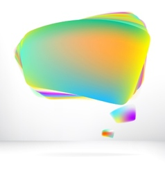 Abstract glossy speech bubble EPS8 vector image