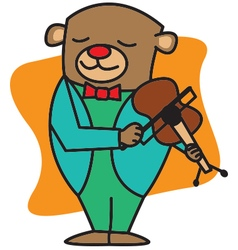 Bear Playing Violin vector image