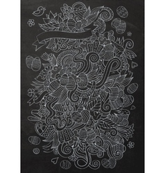 Cartoon chalkboard doodles on the subject of vector
