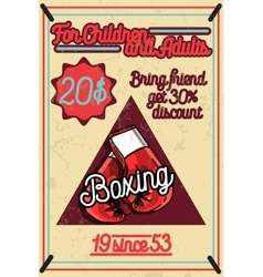 Color vintage Boxing poster vector image vector image