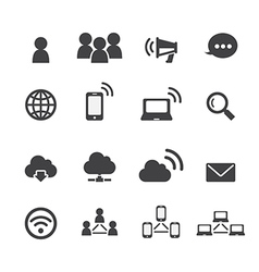 Communication and network icon vector