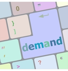 demand button on computer pc keyboard key vector image vector image