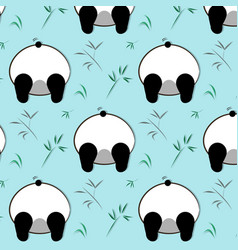 funny panda pattern white black bear vector image
