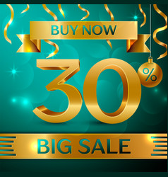 Gold big sale thirty percent for discount vector