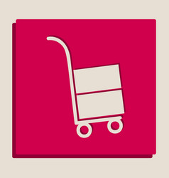 Hand truck sign grayscale version of vector