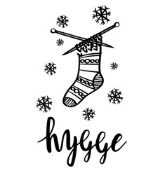 Hygge is a danish living concept vector
