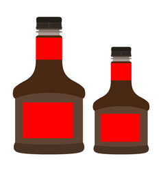Isolated soy sauces vector