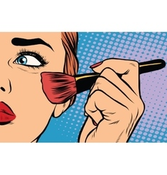 Make-up woman brush causes the tone vector