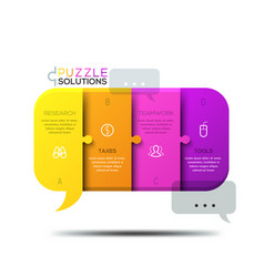 Modern infographic design template jigsaw puzzle vector