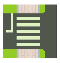 Pedestrian zone icon cartoon style vector