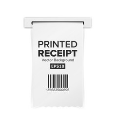 Printed receipt sales shopping realistic vector