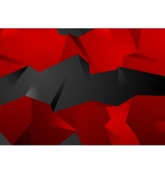 Red and black abstract 3d polygonal shapes vector