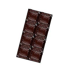 Scribble chocolate bar cartoon vector