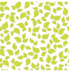 seamless background leaves vector image vector image