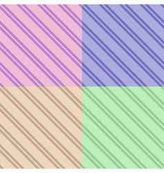Set of seamless striped patterns vector image vector image