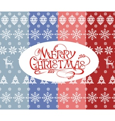 Set of simple christmas colorfull patterns vector