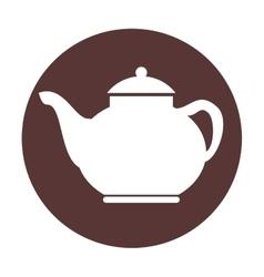 Tea pot silhouette isolated icon vector