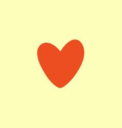 valentine heart simbol vector image vector image