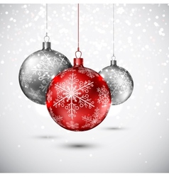 Background with christmas balls vector