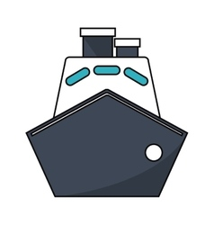 Isolated cruise ship vehicle design vector