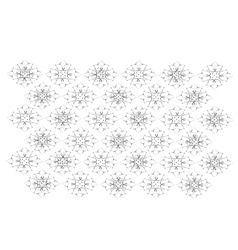 White Vintage Wallpaper with Flower Pattern vector image