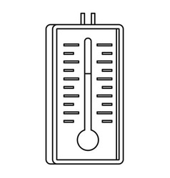 Thermometer icon outline style vector