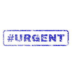 hashtag urgent rubber stamp vector image