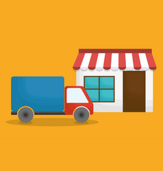 store and shopping related icons vector image