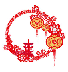 mid-autumn festival for chinese new year frame vector image