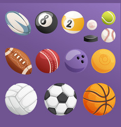 Set of sport balls isolated collection vector