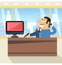 Boss in office vector
