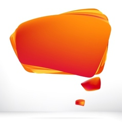 Abstract orange warm speech bubble  eps8 vector