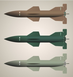 Missiles isolated vector