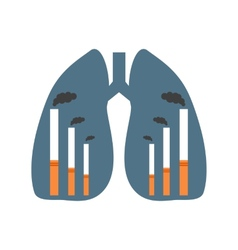 Lungs with smoking factories vector